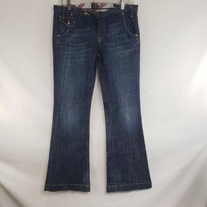 Vigoss Medium Wash Mandarin Flare Jeans